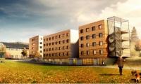 Veidekke bygger studentboliger i Hønefoss