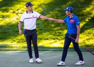Golf: Hovland går sammen med Hatton og Kodaira i California