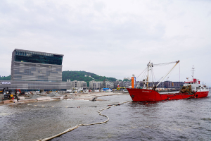 Sand fra Hønefoss blir operastrand i Oslo