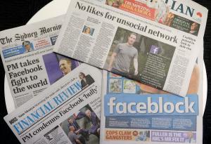Australia i forhandlinger med Facebook om blokkering av nyheter