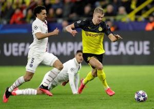 Haaland senket Paris Saint-Germain med to mål i 2-1-seier